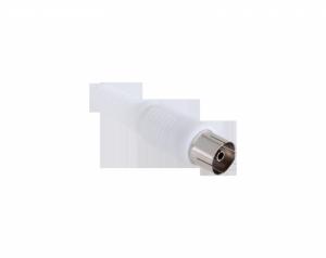 Gniazdo antenowe TV na kabel długie białe