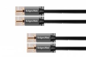 Kabel 2RCA-2RCA 0.5m Kruger&Matz