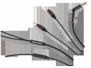 Kabel nylonowy z mikrofonem do słuchawek Kruger&Matz