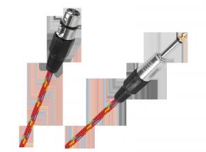 Kabel mikrofonowy gniazdo CANON-wtyk JACK 6.3mm 3m