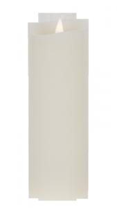 Świeca woskowa LED duża  ivory