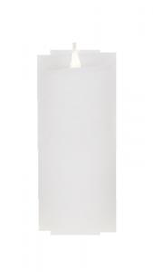 Świeca woskowa LED średnia rustic white
