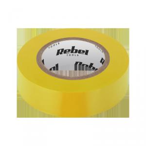 Taśma izolacyjna klejąca REBEL (0,13 mm x 19 mm x 10 yd) żółta
