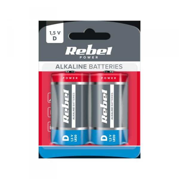 Baterie alkaliczne VIPOW LR20 2szt/bl.