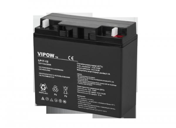 Akumulator żelowy VIPOW 12V 17.0Ah