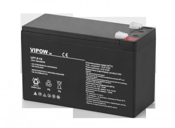 Akumulator żelowy VIPOW 12V 7.5Ah