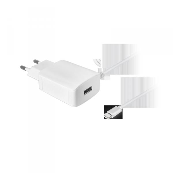 Ładowarka sieciowa z kablem typu C 2100 mA