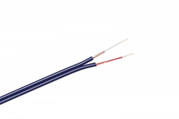 Kabel 2 x RCA-3mm niebieski
