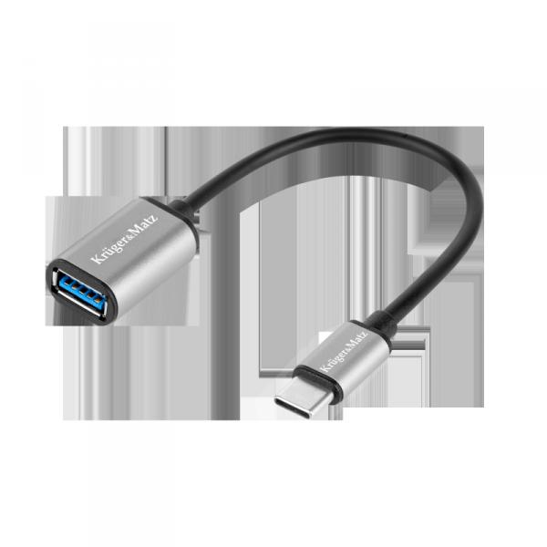 Adapter gniazdo USB 3.0 A - wtyk USB typu C OTG Kruger&Matz Basic