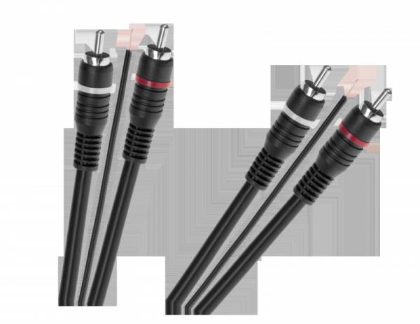 Kabel 2 x RCA - 2 x RCA z żyłą sterującą