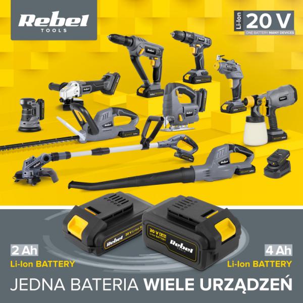 Bateria akumulatorowa 20V 4A Rebel Tools