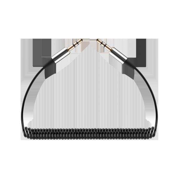 Kabel audio Jack 3.5 wtyk - wtyk REBEL spirala 100 cm