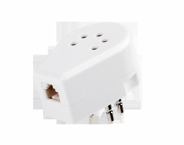 Adapter wtyku telefonicznego Belgijskiego - biały