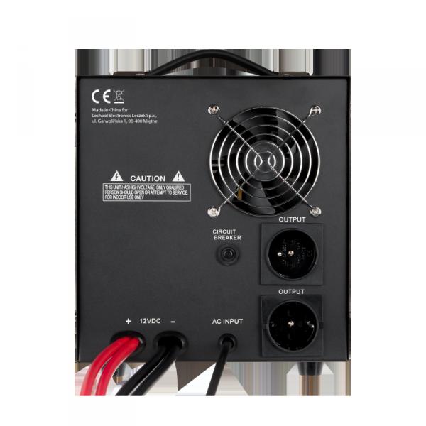 Zasilacz awaryjny KEMOT PROsinus-1200  przetwornica z czystym przebiegiem sinusoidalnym i funkcją ładowania 12V 230V 2000VA/1200