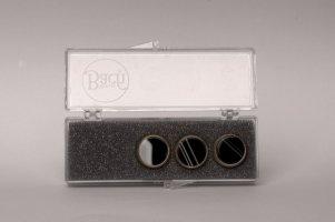 Nakrętki z kamieniami szlachetnymi do wentyli tłokowych do trąbki Vincent Bach Valve Buttons B&W Sardonyx pozłacane