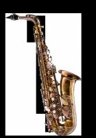 Saksofon altowy Forestone lakierowany, zdobiony, GX cognac vintage