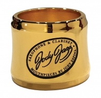 Ligaturka do saksofonu sopranowego (metal) JodyJazz Power Ring gold plated