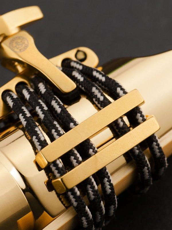 Ligaturka do saksofonu altowego Silverstein CRYO4 Gold