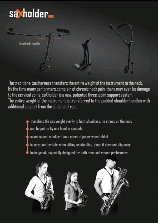 Szelki Jazzlab Sax Holder Pro klarnet basowy/fagot