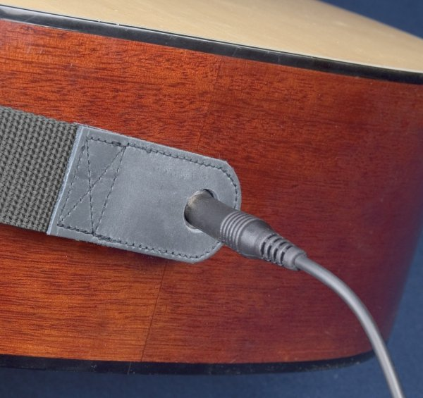 Pasek do gitary akustycznej Neotech Slimline Acoustic End Pin Jack Leather
