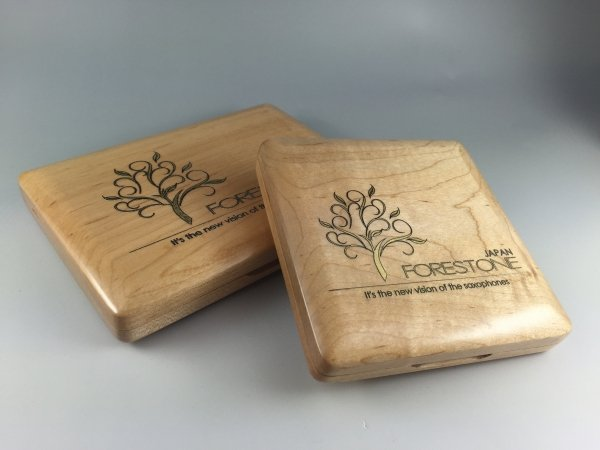 Pudełko na stroiki do klarnetu B/A/Es (6 szt.), drewno klonowe, Forestone