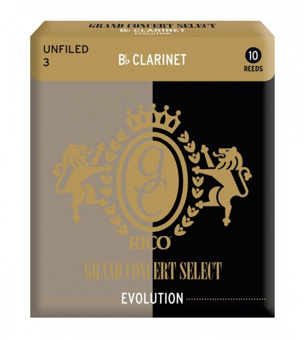 Stroiki do klarnetu B/A Rico Grand Concert Select Evolution 2.5 Unfiled stare opakowanie