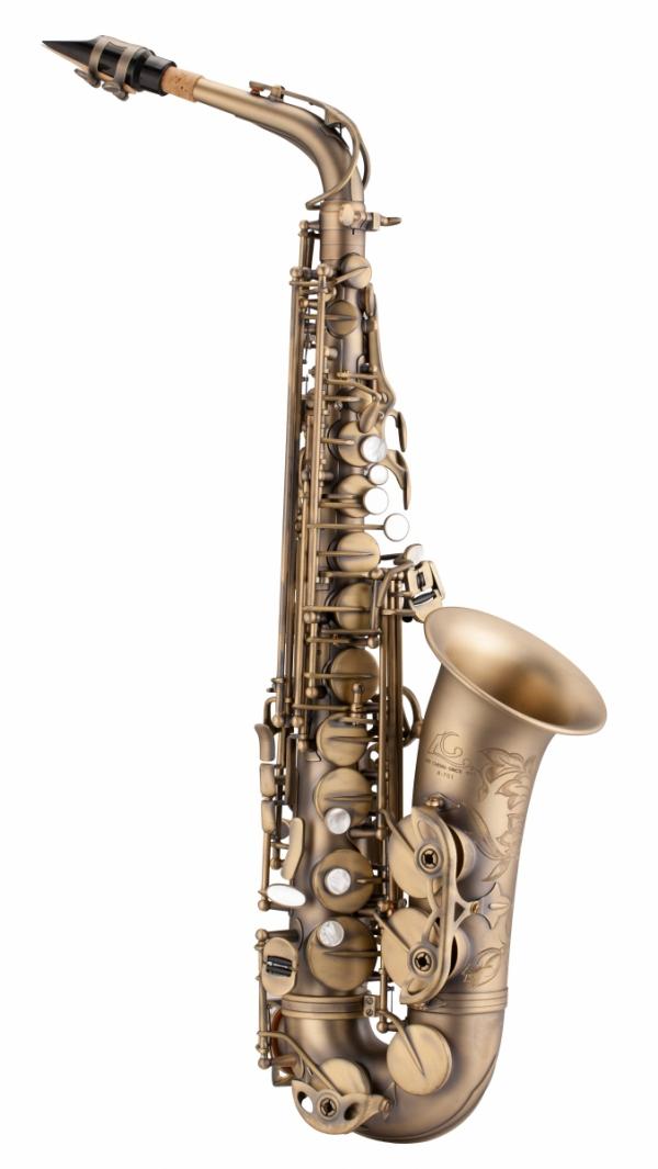 Saksofon altowy LC Saxophone A-701GF vintage style, dark antique finish