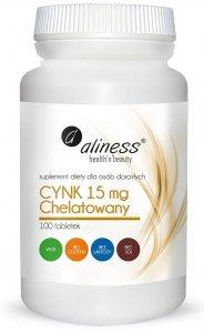 Aliness Cynk chelatowany 15 mg x 100 tabletek Vege