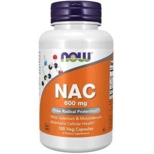 Now Foods NAC N-Acetyl Cysteine 600 mg 100 kaps