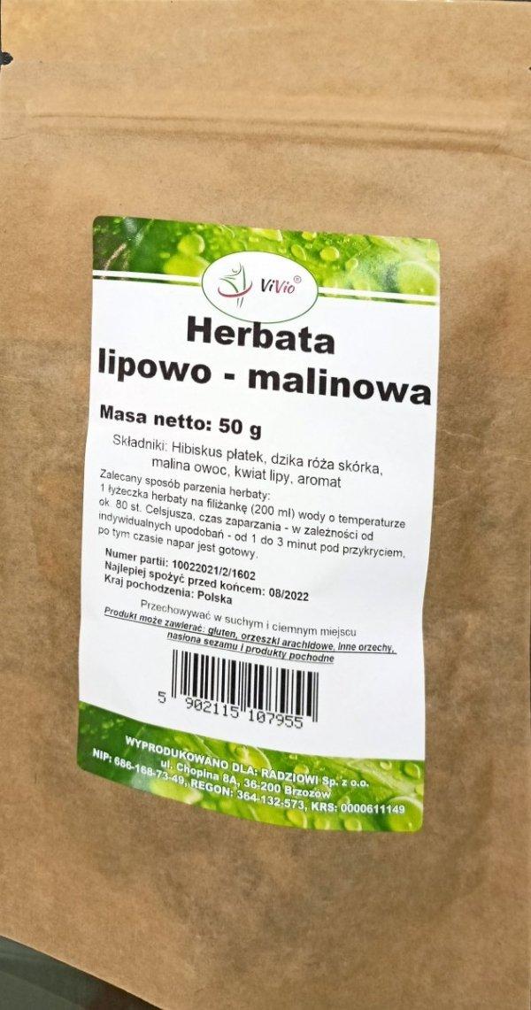 Vivio Herbata lipowo-malinowa 50g