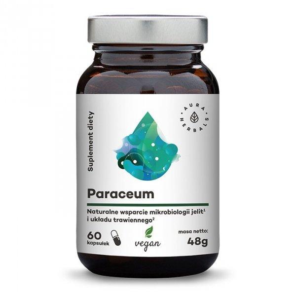 Aura Herbals Paraceum - naturalne wsparcie jelit i trawienia  60 kapsułek wegańskich