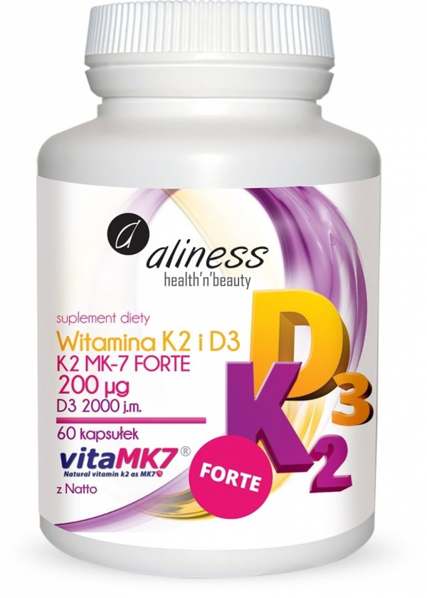 Aliness witamina K2 i D3 FORTE 60 kapsułek