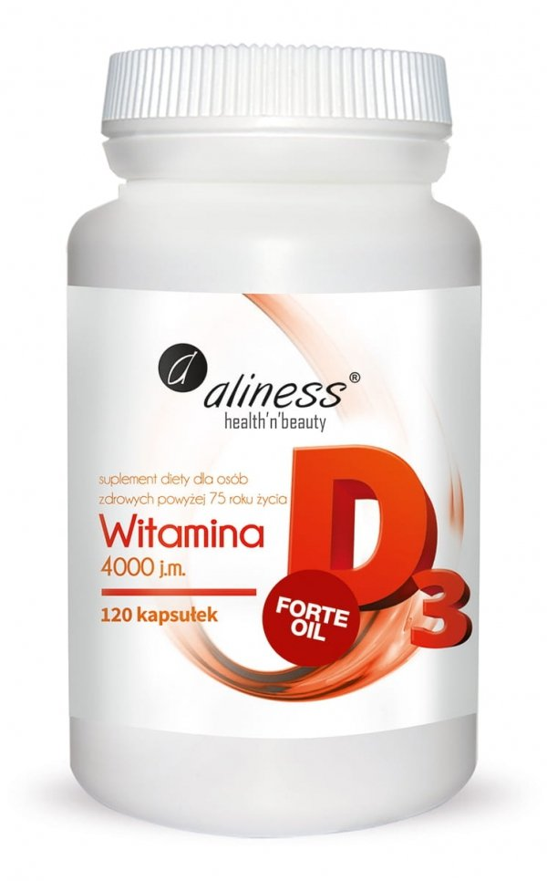 Aliness Witamina D3 Forte Oil 4000IU 120 kapsułek