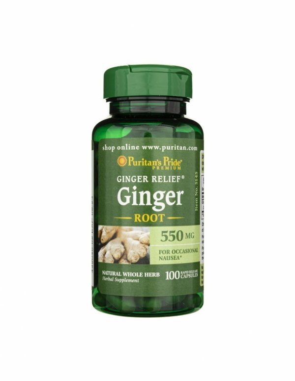 Ginger Root 550mg 100caps Puritan's Pride