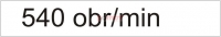 Naklejka - Obroty wałka na minutę