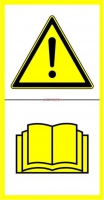 Naklejka - Przed uruchomieniem przeczytać instrukcję.