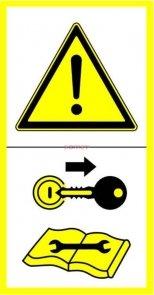 Naklejka - Naprawiać po wyłączeniu...