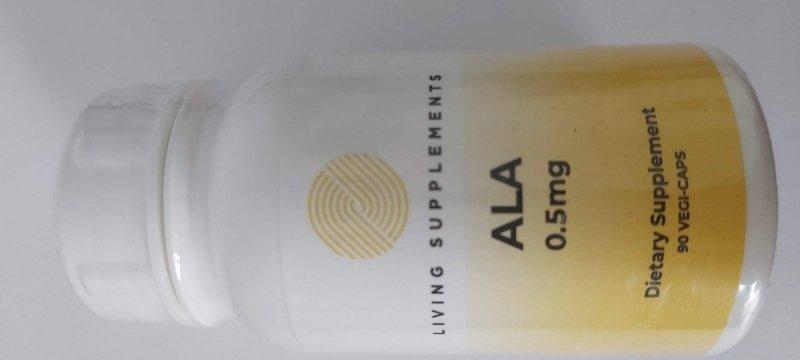 Kwas alfa liponowy ALA 0.5 mg - 90 kapsułek Alpha Lipoic Acid