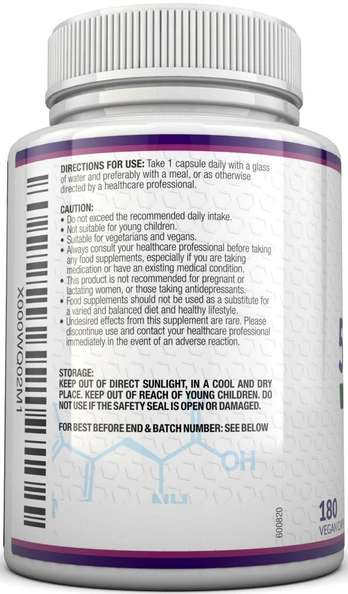5-HTP 5HTP 400mg 180 kaps 8:1 ekstrakt z griffonii