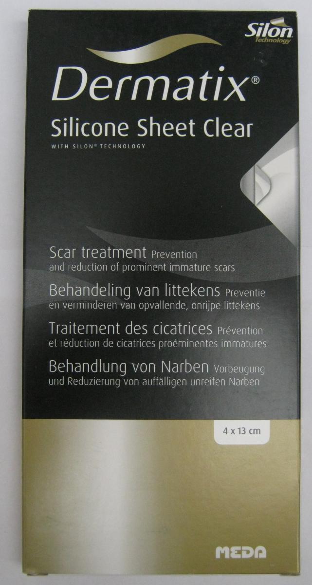 DERMATIX CLEAR - silikonowy plaster - wymiar 4 x 13 cm