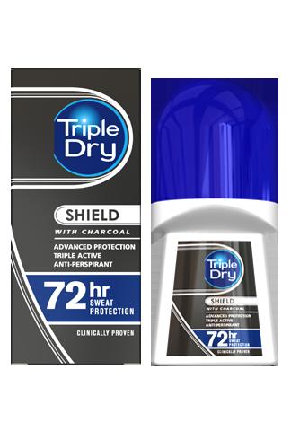 TRIPLE DRY- charcoal Roll-on- kulka dla mężczyzn 50ml - nadpotliwość