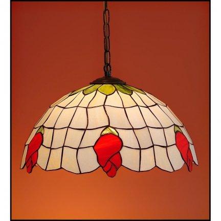 Lampa żyrandol zwis witraż ŁĄKA 40cm