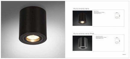 Oprawa natynkowa Rullo cromo neroIP44 Orlicki Design