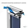 Nawiewnik higrosterowany EXR.HP + podkładka montażowa + okap AC - 5 kolorów