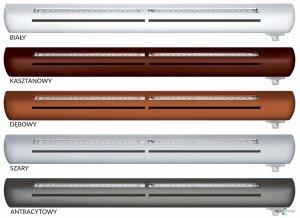Nawiewnik higrosterowany EXR + podkładka montażowa (bez okapu) - 5 kolorów