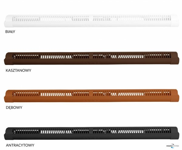 Nawiewnik ciśnieniowy AMO + okap standardowy - 4 kolory