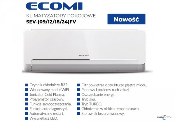 Klimatyzator pokojowy SEVRA Ecomi SEV-12FV