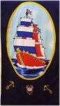Ręcznik plażowy ŁÓDŹ - rozmiar 70x148