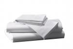 Prześcieradło białe hotelowe NORIS 260x220 100% bawełna