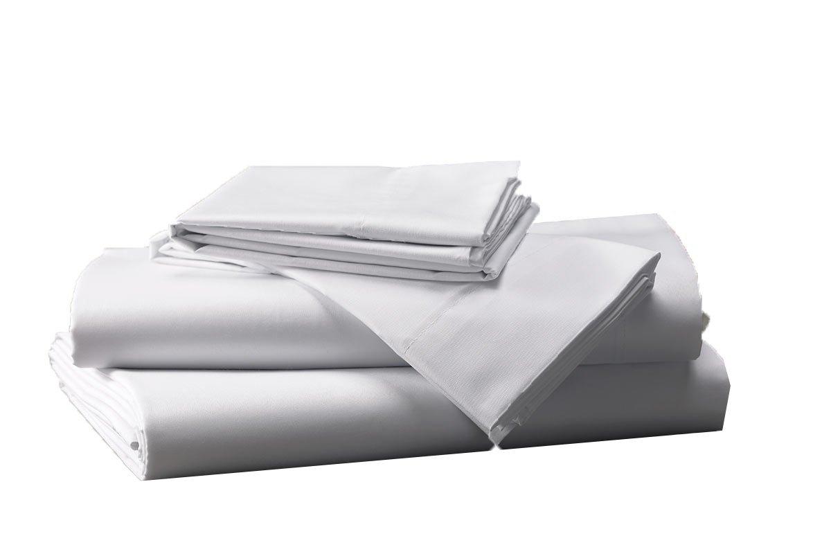 Prześcieradło Białe Hotelowe Noris 280x220 100 Bawełna Bez Gumki